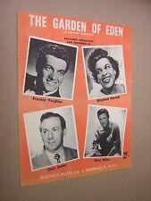 Il giardino dell'Eden. VARI artisti. 1956 ORIGINALE VINTAGE SPARTITO Score