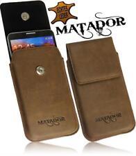 Für HTC ONE M8 Leder Tasche Handytasche Flap-Antik Vertikal Tasche Hülle Neu