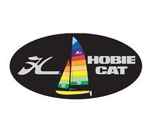 """HOBIE Cat Tequila Sunrise Dome Decal #12453031 Catamaran Logo Sticker 4.75""""x2.5"""""""