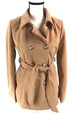 L'Atiste By Amy Camel Brown Double Breasted Women's Peacoat Jacket Size Small