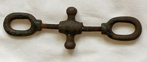 ANTIQUE Vintage Unusual TURNBUCKLE CAST IRON STEEL ? NAUTICAL ? COOL COLLECTIBLE