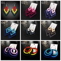 Fashion Jewelry Bohemian Geometric Large Pendant Earrings Drop Dangle Ear Hook