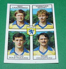 N°433 LAZUROWICZ BECHET MASTROIANNI THONON D2 PANINI FOOTBALL 84 1983-1984