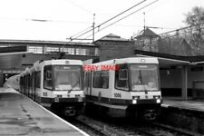 PHOTO  1992 CRUMPSALL RAILWAY STATION COLD WEATHER AND RAIN GREETED MANCHESTER'S