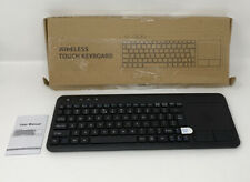 Wireless Touch Keyboard and Touchpad WITH RECEIVER INCLUDED - BLACK