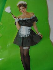 Sexy French Maid Halloween Costume Disguise Sz 8-10 Disguise No Headpiece #1330