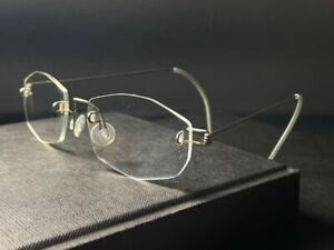 Vintage 1990s Lindberg Air Titanium womens rimless glasses lightweight frames