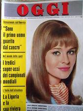 OGGI n°32 1966 Julie Christie - Mina Mazzini - Campionato Mondo Calcio [C78]