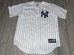 New York Yankees Robinson Cano #24 Majestic MLB Jersey Sz Large *Used* White