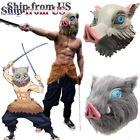 Demon Slayer Hashibira Inosuke Halloween Cosplay Costume Pants Apron Mask Set US