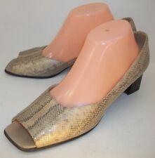 Peter Kaiser Womens Shoes Heels US 7.5 Beige Multicolor Snake Print D'orsay Work