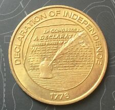 Declaration Of Independence Sunoco Token Coin Medal