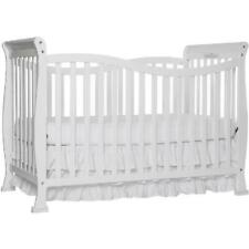 7-in-1 White Finish Convertible Crib Durable Home Nursery Room Furniture Set