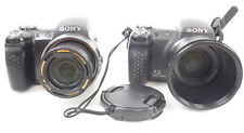 Lot of 2 Sony DSC-H5 Digital Cameras AS-IS Parts/Repair Carrying Strap Lens Cap