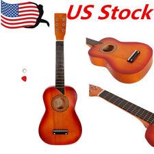 "Kids Beginners 25"" Acoustic Guitar 6 String & Pick Children Music Rock Star Us"