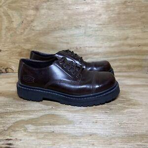 Skechers Cap Toe Leather Oxford Shoes 6637 Men's 8.5 Brown