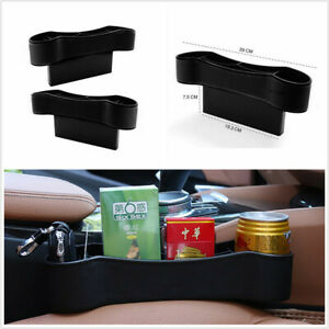2Pcs Storage Box Organizer Cup Holder Universal Fit For Car Seat Right Left Side