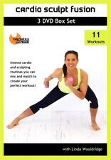 CARDIO SCULPT FUSION 3 DVD SET 11 WORKOUTS  NEW LINDA WOOLDRIDGE BARLATES BARRE