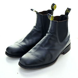 RM Williams Black Leather Boots Mens Size 10 X / US 11 - Excellent Condition!