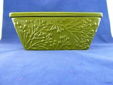 GREEN REAL HOME HIGH FIRE EARTHENWARE CASSEROLE DISH LOAF PAN BAKEWARE