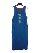 Bobbie Brooks Snowman Denim Jean Dress Small 4-6 Women