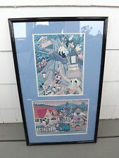 TOKYO DISNEYLAND & TOONTOWN ART ANIMATION PRINTS PROFESSIONALLY FRAMED RARE