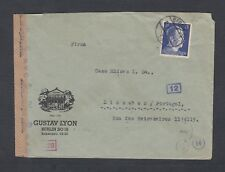 GERMANY 1942 WWII CENSORED ADVERTISING COVER BERLIN TO LISBON PORTUGAL