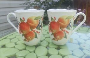 Lenox Orchard in Bloom Peach Blossom Mug 6327800 NOS Pair