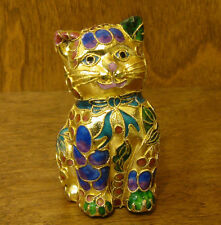 Victorian Treasures #A205-1 CAT SITTING, blue/green, NEW from Retail Shop