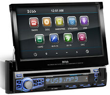 "BOSS Audio BV9976B Single-DIN, DVD Player 7"" Motorized Touchscreen Bluetooth"