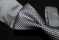 Drakes London x Old England Mini Gingham Check Plaid Midnight Navy Blue Silk #2
