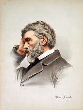 ÉCOSSE (SCOTLAND) - Thomas CARLYLE (époque victorienne) - Gravure couleur 19e s