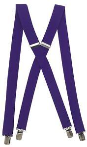 suspenders men's clip-on x back Retro Steampunk Costume Tux Dance Prom Cosplay