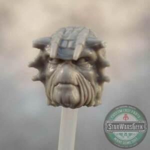 "MH042 Custom Cast head use w/3.75"" Acid Rain ARW Marvel Fallout Star Wars Joe"