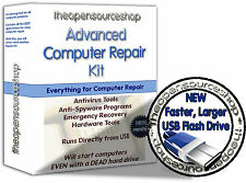 Recover, Rescue & Repair Windows - 210 Programs Bootable Startup USB Flash Drive