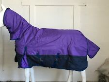 600D PURPLE/NAVY 300g STABLE HORSE COMBO RUG - 6' 0