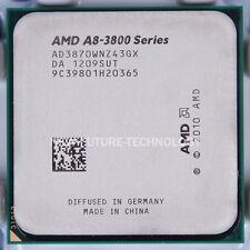 AMD A8-3870K 3 GHz 4M 3000MHz AD3870WNZ43GX Socket FM1 CPU Processor 100% tested