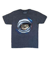 Cat Astronaut Kitty Space Shirt Men's Size Medium Hybrid Apparel Galaxy Kitten