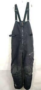 Men's Ski doo BRP Ski Snow Pants BIB OVERALLS Black Size Large