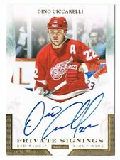 2011-12 Panini Private Signings Autograph Auto #DC1 Dino Ciccarelli SP Red Wings