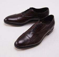 NIB $3000 SANTONI Limited-Edition Burgundy Python Shoes US 6.5 D Snakeskin
