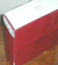 CALVIN KLEIN RED COTTON PERCALE 4 PC. XDP QUEEN SHEET SET ~ ELEGANT!