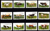 France 2014 Cows Complete Set of Stamps P Used S/A