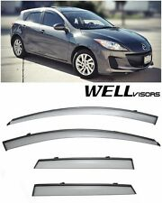 For 10-13 Mazda 3 Hatchback WellVisors Side Window Visors W/ Black Trim