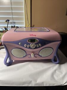 Disney Princess Cd Jukebox Player And Jewelry Box Vintage 2005 Tested Working