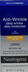 Neutrogena Anti Wrinkle Cream Daily Moisturizer SPF 20 New 1.4 oz Exp 2021