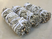 "White Sage Smudge Stick | 4"" to 5"" Wands House Cleansing Negativity  (3 Pack)"
