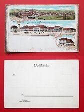 Litho AK WASSELNHEIM im Elsass um 1900 Schlossplatz und Ortsansicht    ( 34196