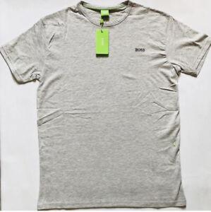 Man's Hugo Boss T-Shirt 100% Cotton Grey L Crew Neck Regular Fit
