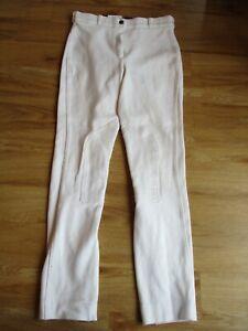 """Shires SaddleHuggers Ladies White Jodhpurs Size 30"""" UK 12"""